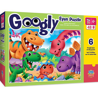 48 Piece Dinosaurs Googly Eyes Jigsaw Puzzle by MasterPieces