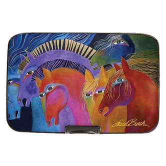"Laurel Burch ""Wild Horses of Fire"" Armored Wallet by Monarque"
