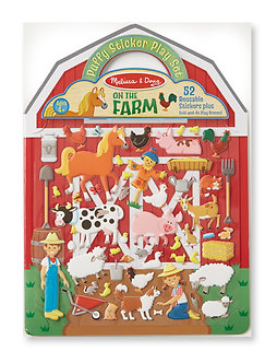 Melissa & Doug On the Farm Reusable Puffy StickerPlay Set