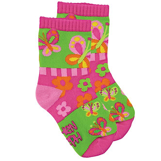 Pink Butterfly Toddler Socks by Stephen Joseph
