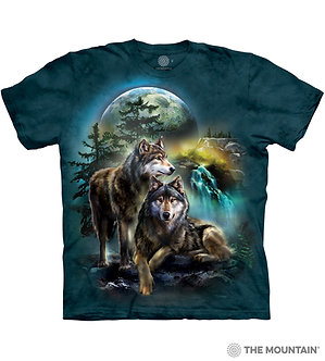 """Wolf Lookout"" Adult T-Shirt by The Mountain"