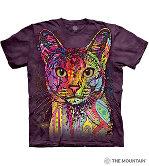 """Abyssinian"" Cat Adult T-Shirt by The Mountain"
