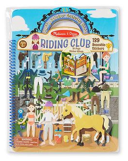 Melissa & Doug Horse Riding Club Reusable Puffy Sticker Activity Book