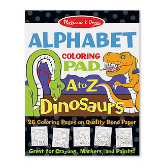 Melissa & Doug A to Z Dinosaurs Alphabet Coloring Pad