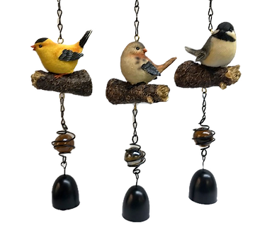 Small Bird on a Chain Hanging Figurine by Ganz