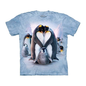"""Penguin Heart"" Adult T-Shirt by The Mountain"