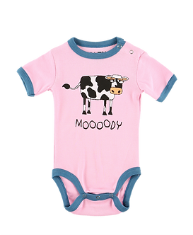 Mooody Cow Baby Onesie by Lazy One