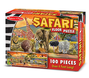 100 Piece Melissa & Doug Safari Floor Puzzle
