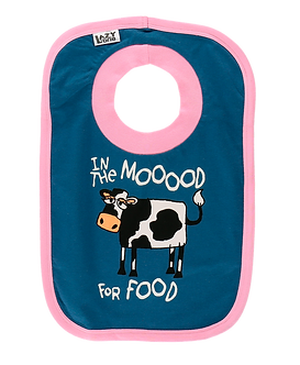 In the Moood for Food Cow Bib by Lazy One