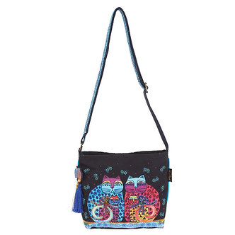 "Laurel Burch ""Feline Set"" Cat Crossbody Purse"
