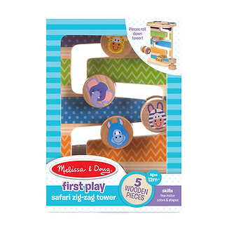 Melissa & Doug First Play Safari Zig-Zag Tower