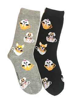 Foozy's Dog/Puppy in Teacups Socks