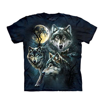 """Moon Wolves Collage"" Youth T-Shirt by The Mountain"