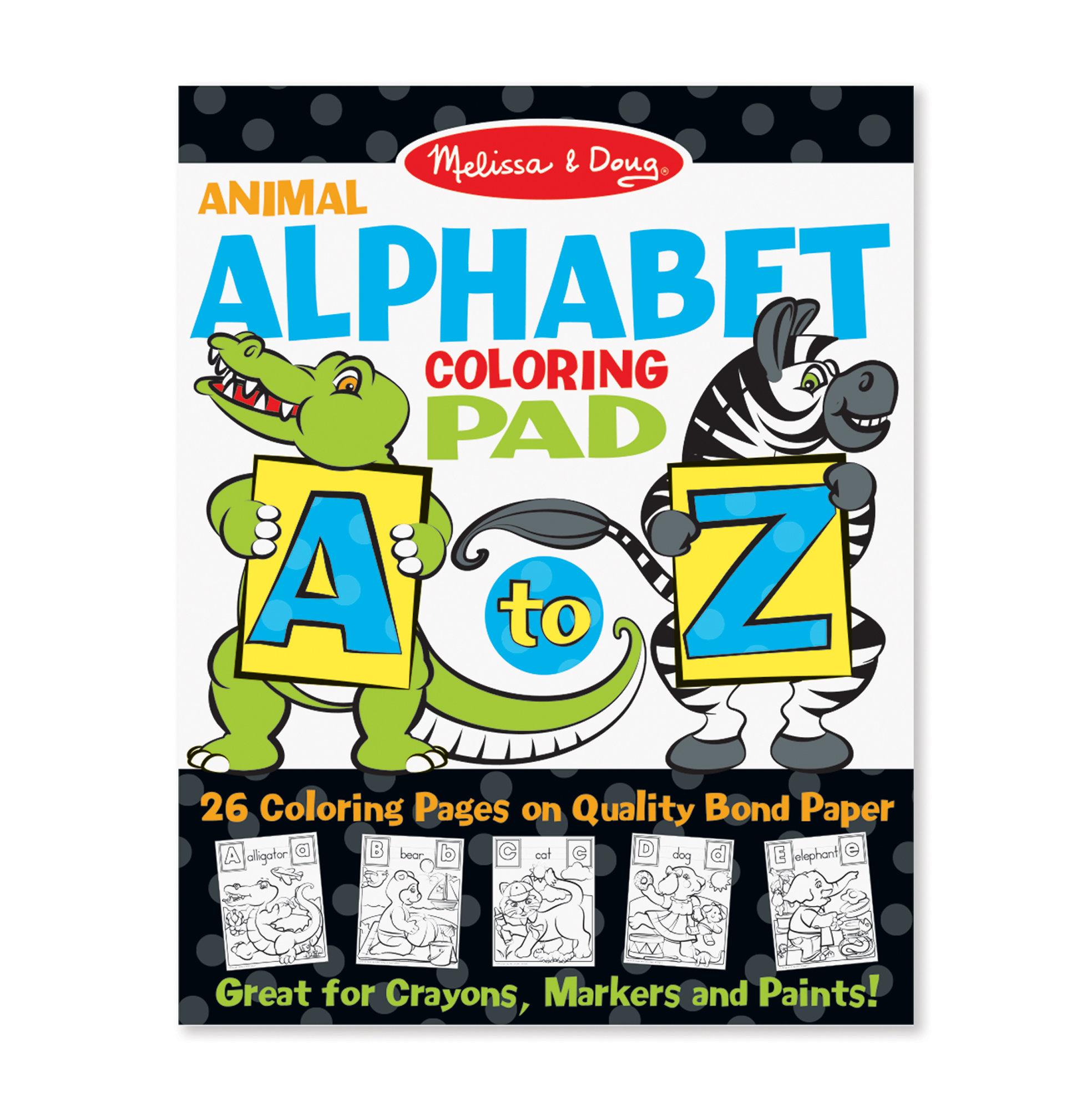 Melissa & Doug A to Z Animal Alphabet Coloring Pad   All ...