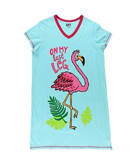 """On My Last Leg"" Flamingo Lazy One Nightshirt"