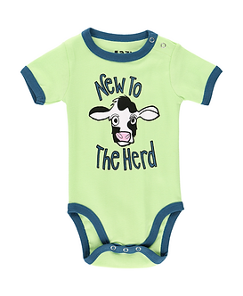 New to the Herd Cow Baby Onesie by Lazy One