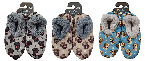 Dog Breed Fuzzy Comfy Slippers