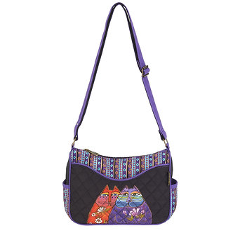 "Laurel Burch ""Two Wishes"" Cat Crossbody Purse"