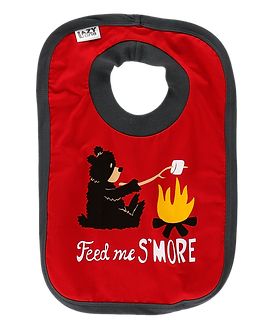 Feed Me S'More Bear Bib by Lazy One