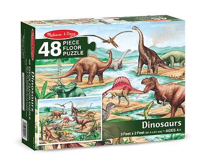 48 Piece Melissa & Doug Dinosaurs Floor Puzzle