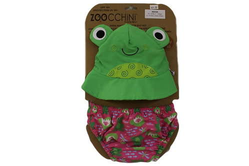 Frog Sun Hat & Swim Diaper Set by Zoocchini