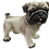 Tan Pug Dog Figurine by Melrose