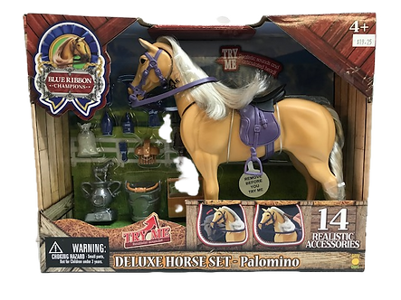 Palomino Horse Deluxe Toy Set