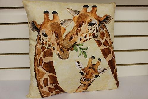 Giraffe Family Pillow