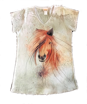 """Hip Horse"" V-Neck Shirt by Sunshirt"