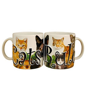 18 oz Cats Rule Stoneware 3-D Mug/Cup