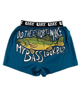 """Do These Shorts Make My Bass Look Big"" Lazy One Men's Boxers"