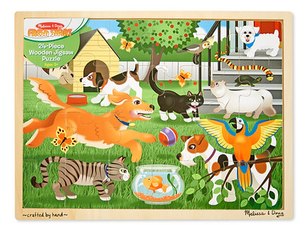 24 Piece Melissa & Doug Pets Wooden Jigsaw Puzzle