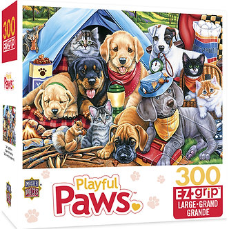 "300 Piece Playful Paws ""Camping Buddies"" Dog Jigsaw Puzzle by MasterPieces"