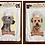 """""""Bone-Appetit!"""" Dog Breed Kitchen Dish Towels, Weimaraner/Wheaten Terrier"""