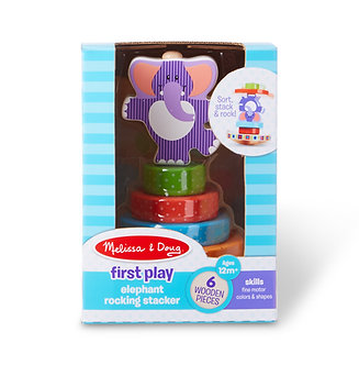 Melissa & Doug First Play Elephant Rocking Stacker