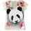 Beaded Panda V-Neck Shirt by Sweet Gisele