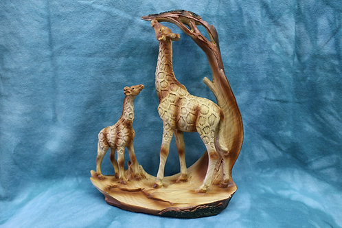 Giraffe with Baby Figurine