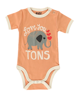 Love You Tons Elephant Baby Girl Onesie by Lazy One