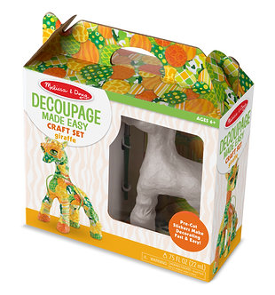 Melissa & Doug Giraffe Decoupage Craft Set