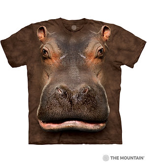 """Hippo Head"" Adult T-Shirt by The Mountain"