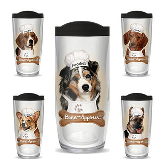 Dog Breed Thermal Insulated Tumbler Cups, Breeds A - J