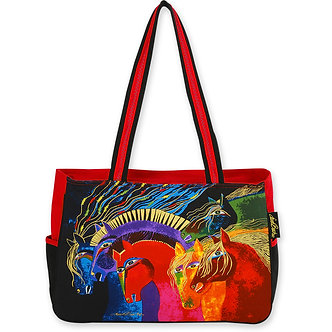 "Laurel Burch ""Wild Horses Of Fire"" Medium Tote Bag"