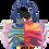 "Laurel Burch ""Rainbow Felines"" Large Cat Cutout Tote Bag"