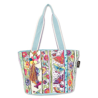 "Laurel Burch ""Butterfly Floral"" Sm/Med Purse/Tote Bag"