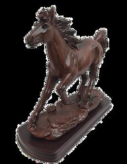 Running Brown Horse Figurine