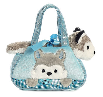 Fancy Pals Husky Dog Peek-A-Boo Purse