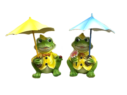 Frog with Umbrella Figurine by Gerson