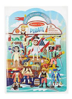 Melissa & Doug Pirate Reusable Puffy Sticker Play Set