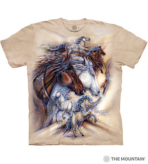 """The Journey Is The Reward"" Horse Adult T-Shirt by The Mountain"