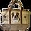 Bulldog Dog Canvas Tote Bag, by E&S Pets